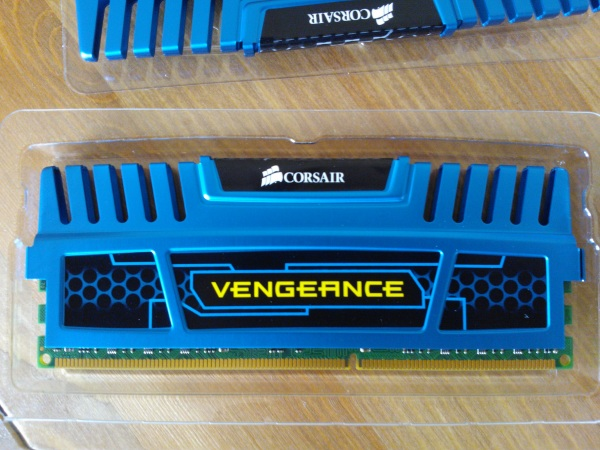 Corsair Vengeance Blue 8GB (2x4GB) DDR3 PC3-12800C9 1600MHz Dual Channel Kit